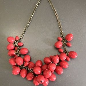 Talbots Statement Coral bead necklace m